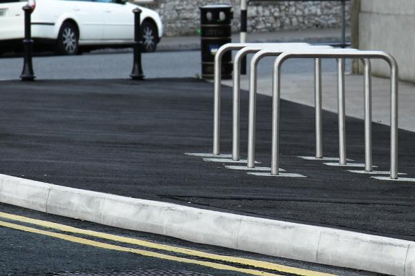Streetside bike stands