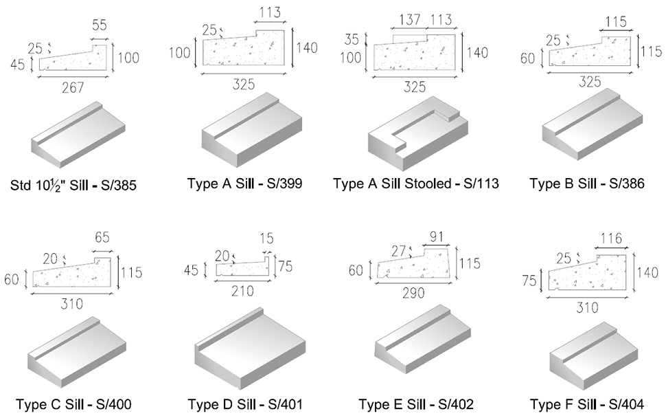 Standards: Precast Concrete Window Sills
