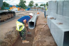 Storm Drain concrete drainage channels