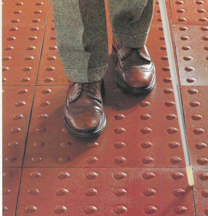 Tactile paving closeup