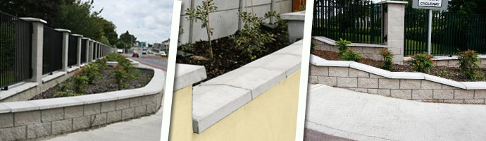 Precast Wall Coping : Precast concrete wall caps capping coping