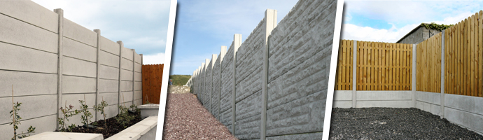 Post And Panel Fencing Timber And Concrete Panel Fencing