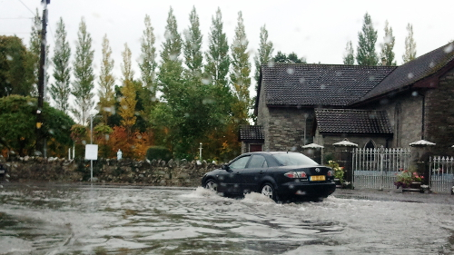 Car in Flood-water