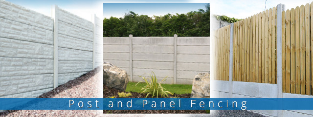 Post and Panel Fencing samples
