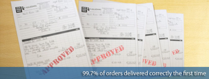 Professional Service with 99.7 percent of orders correctly delivered first time