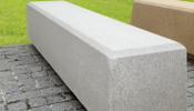 Reconstituted Granite Bench White