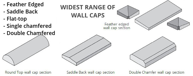widest range of wall caps