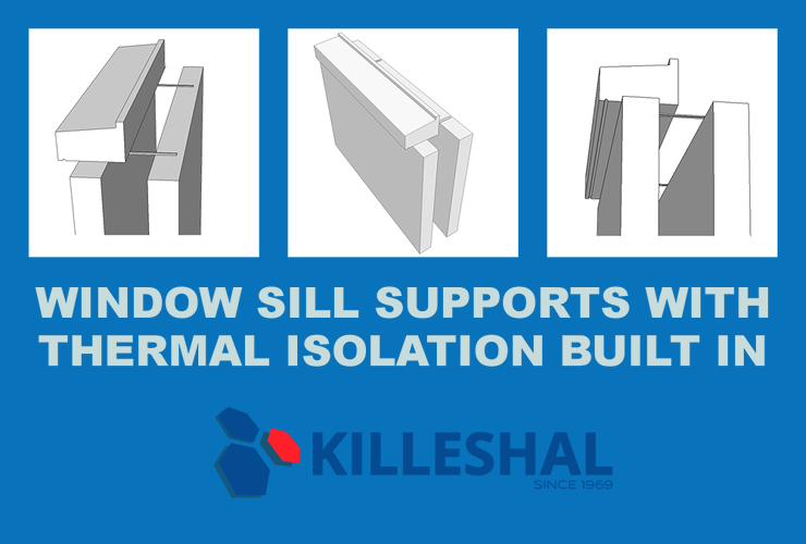 Window Sill Supports with thermally efficient wall ties